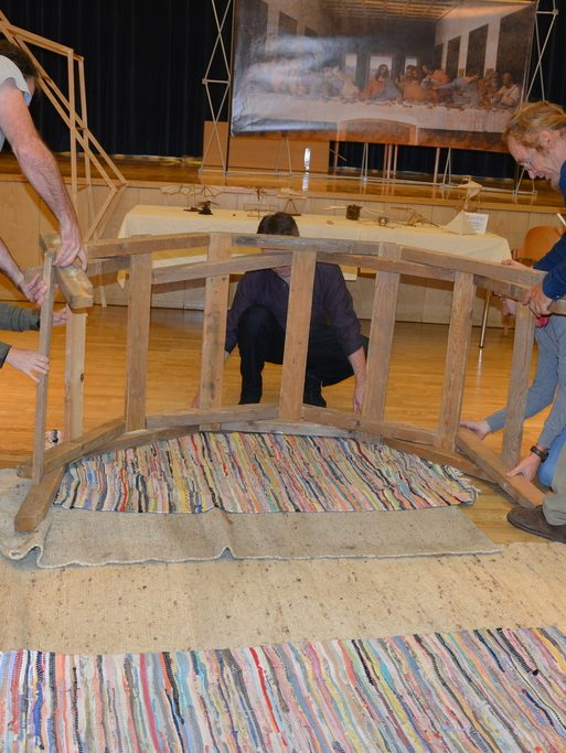 Leonardowerkstatt Ausstellung Aufbau