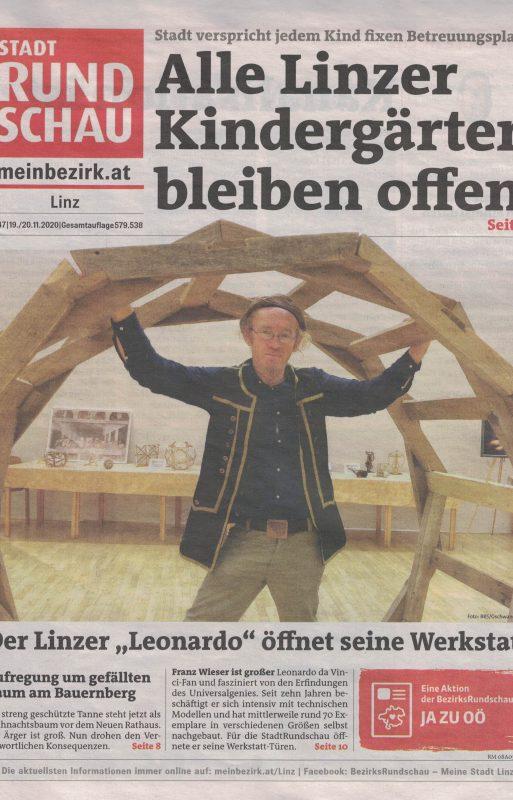 Bezirks Rundschau stellt Leonardowerkstatt vor