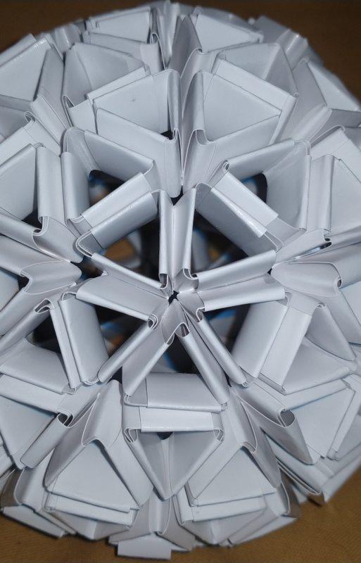 Origami Geodesic Sphere